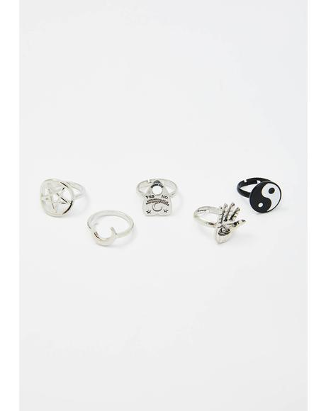 Total Misfortune Pentagram Ring Set