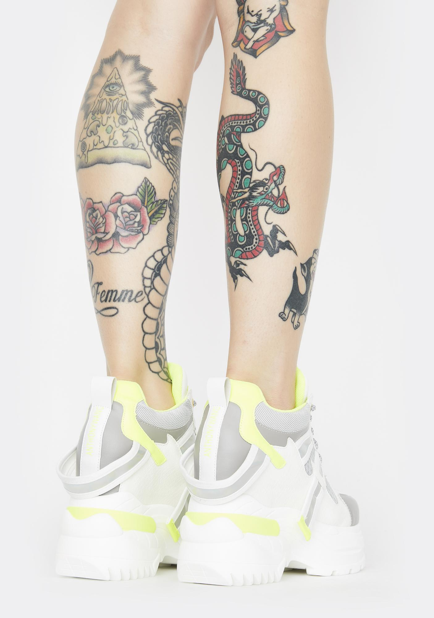 Anthony Wang White Oval Platform Sneakers