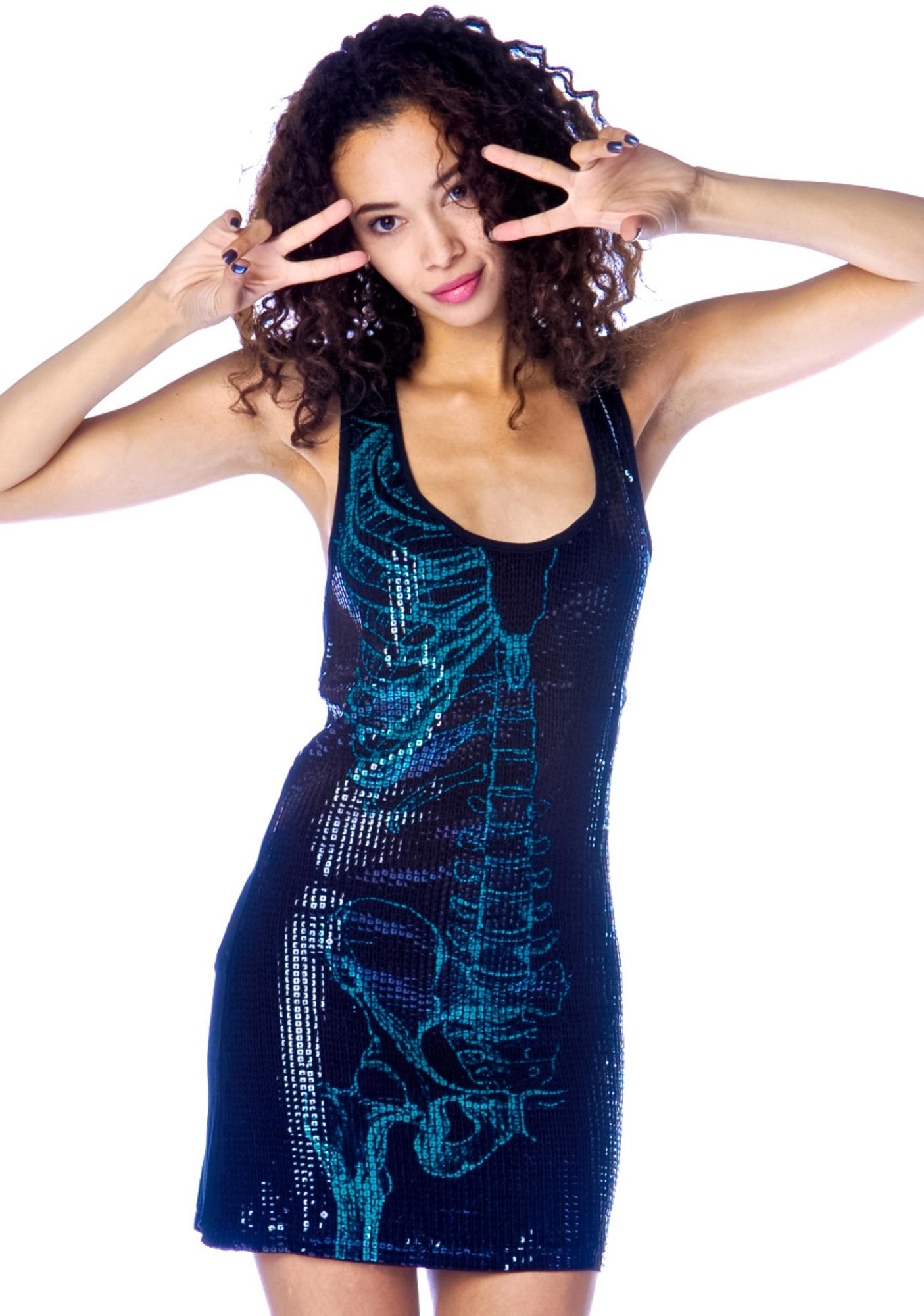 Iron Fist Wishbone Sequined Dress