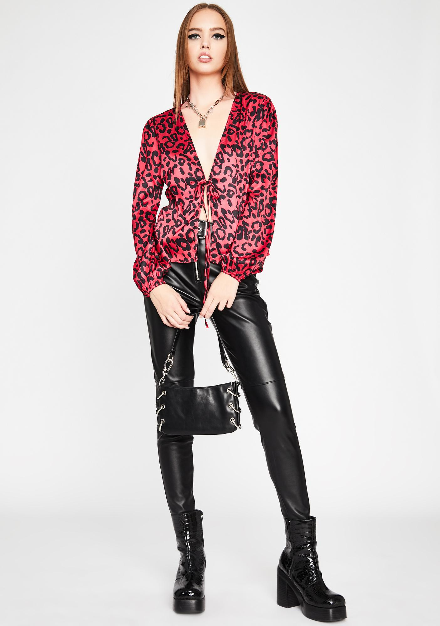 Fight For Me Leopard Blouse