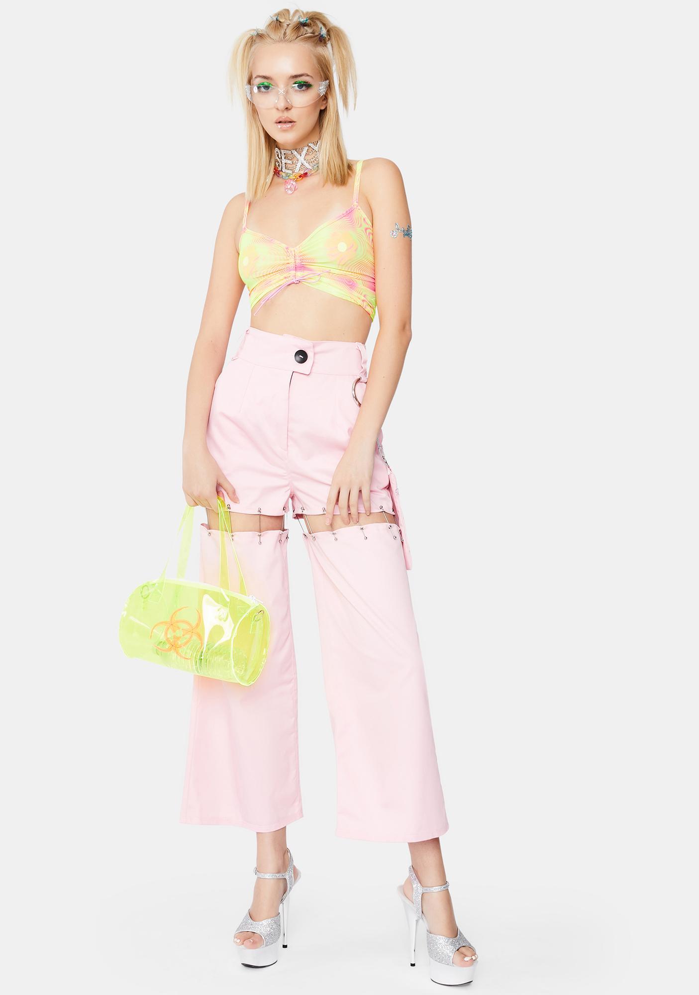 Ivy Berlin Bubble Gum Convertible Pants