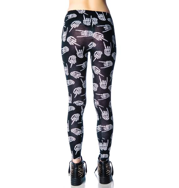 Too Fast Up Yours Mid Rise Addicted Leggings
