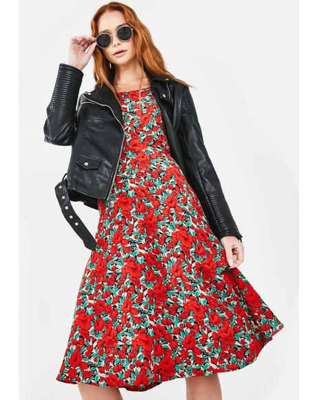 Poppies Midi Dress