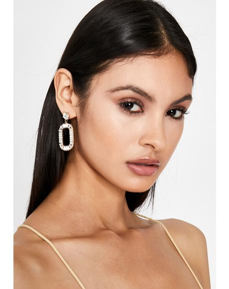 Clearly Completely Candid Rhinestone Earrings