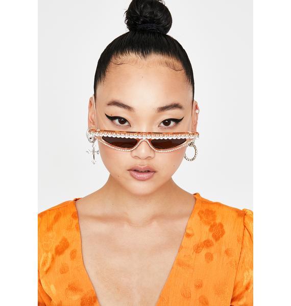 Copper Fierce Flash Cat Eye Sunglasses
