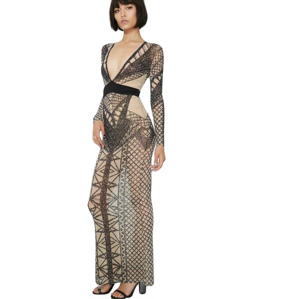 Queen Freaque Geometric Dress