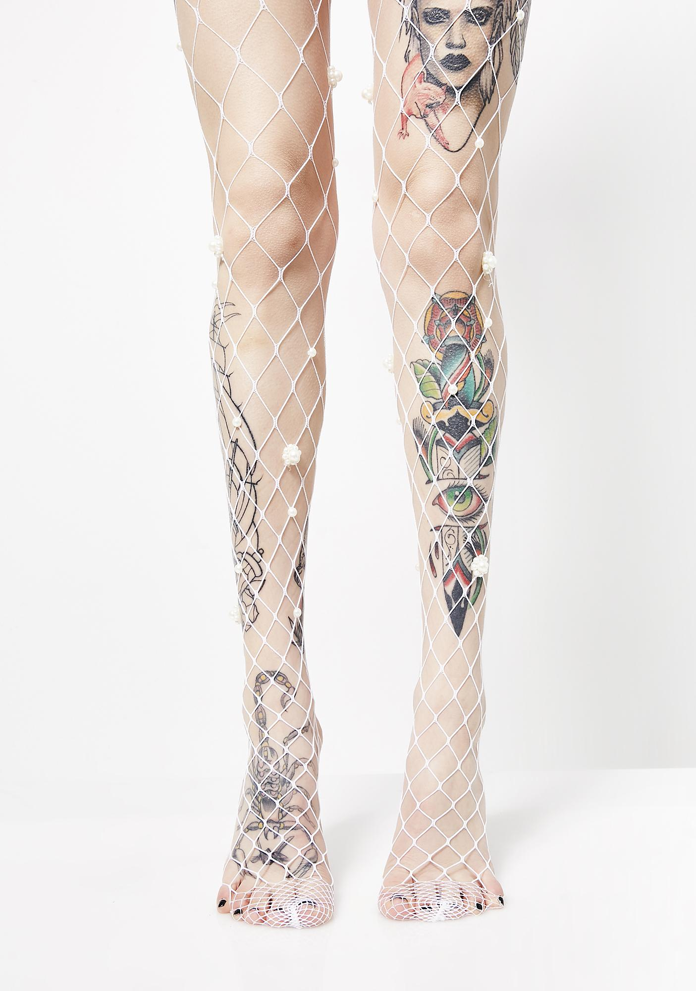 Lap Of Luxury Fishnet Tights