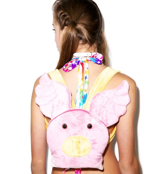 J Valentine When Pigs Fly Backpack