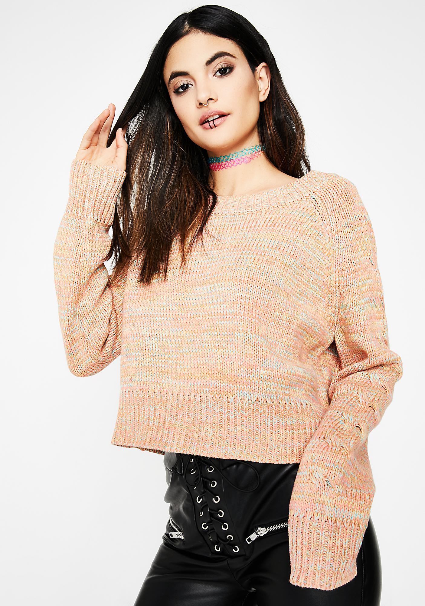 Just Peachy Rainbow Sweater