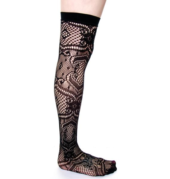 Lip Service Lace Thigh High Tights