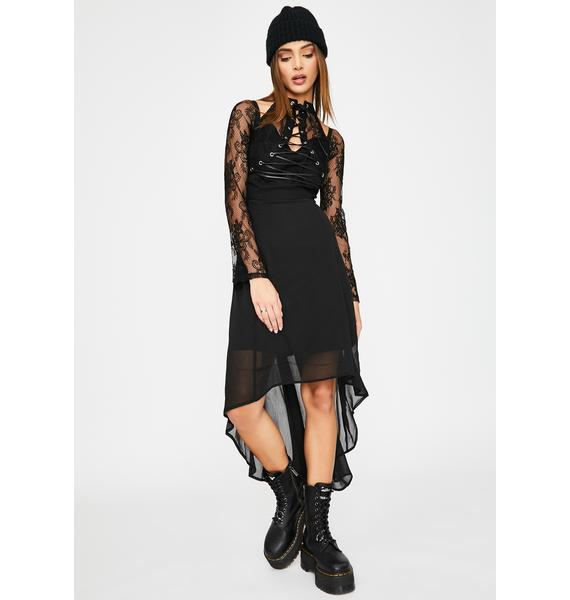 Tripp NYC Night Vision Lace-Up Dress