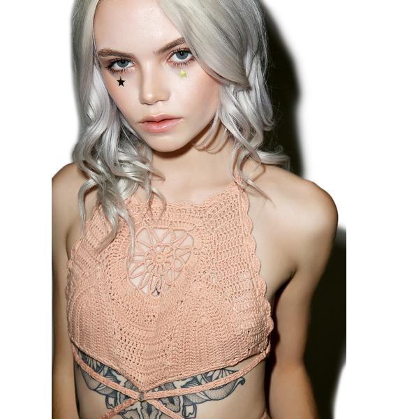 Somedays Lovin Daphne Crochet High Bikini Top