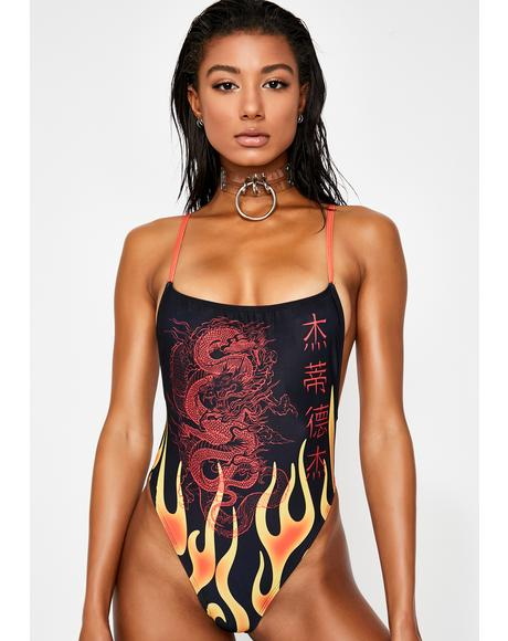 Dragons Breath One Piece Swimsuit