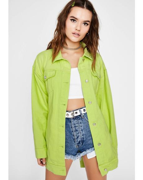 Honey Don't Bother Me Denim Jacket