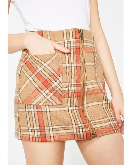 Fallout Girl Plaid Mini Skirt