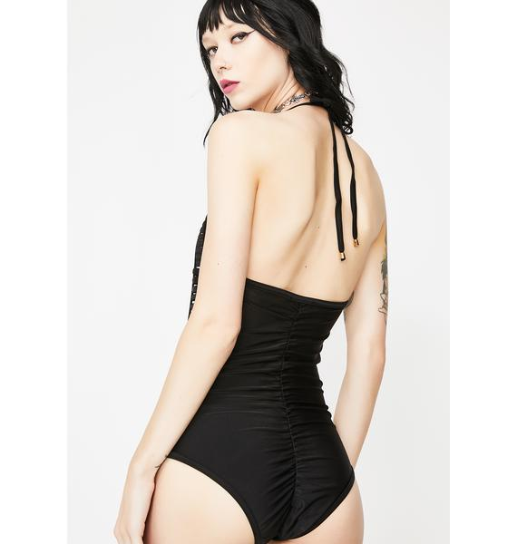 Kiki Riki Caged Animal Halter Bodysuit