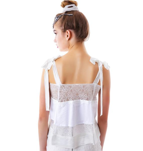 For Love & Lemons Bo Peep Tank Off