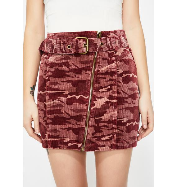 Honey Punch Commander Cutie Camo Skirt