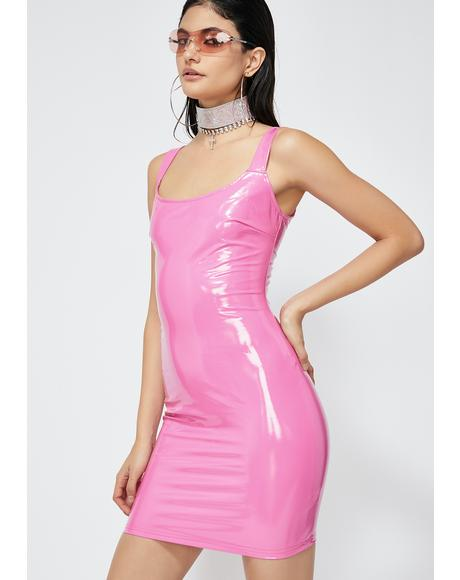 Flashy Baby Vinyl Dress