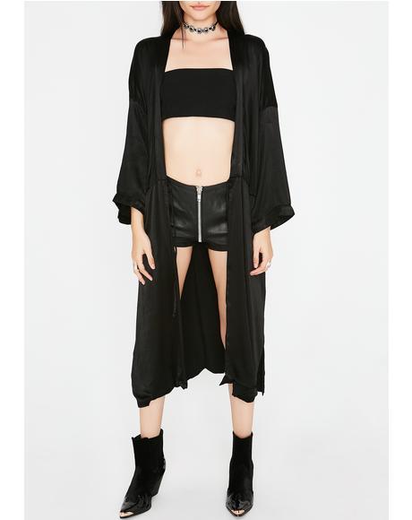 Feel Good Satin Kimono