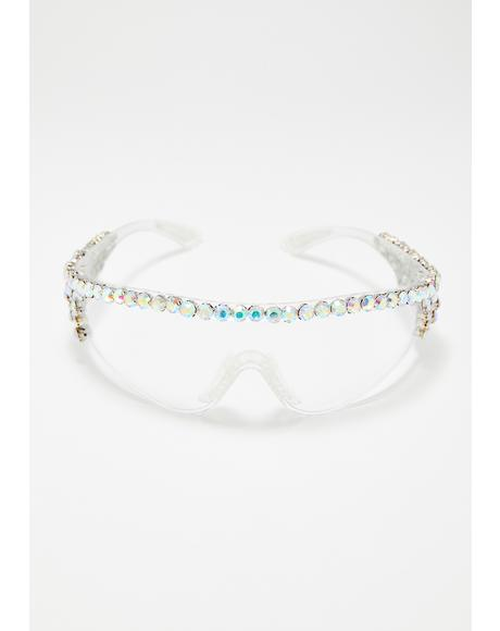Clear Sparkle Sport Glasses