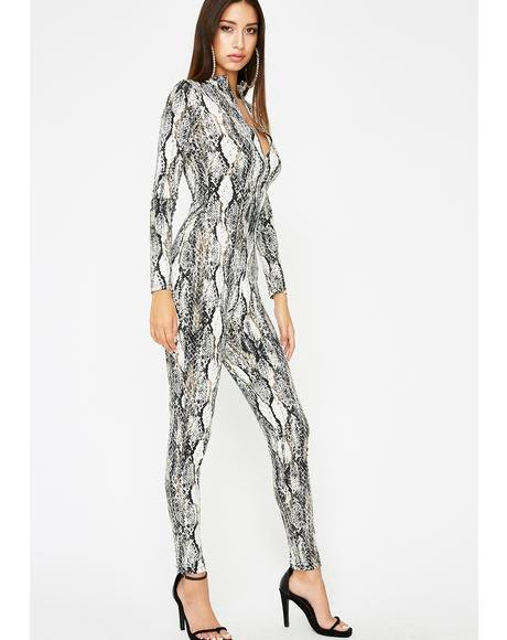 Kiss My Hiss Zip Up Jumpsuit
