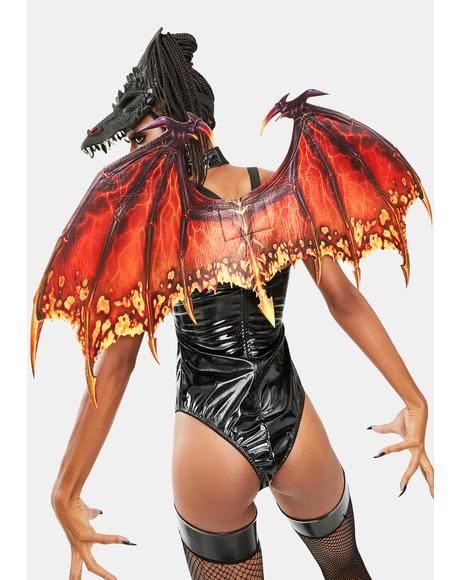 Fiery Inferno Dragon Wings