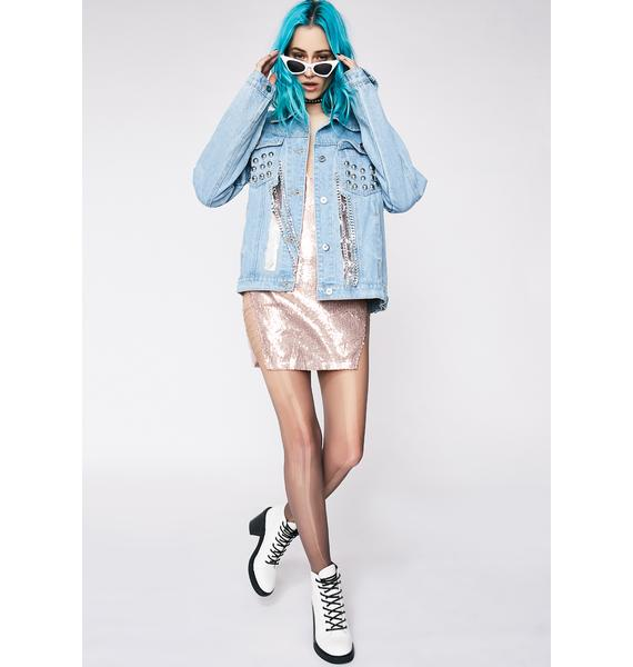 Aim High Clear Panel Denim Jacket