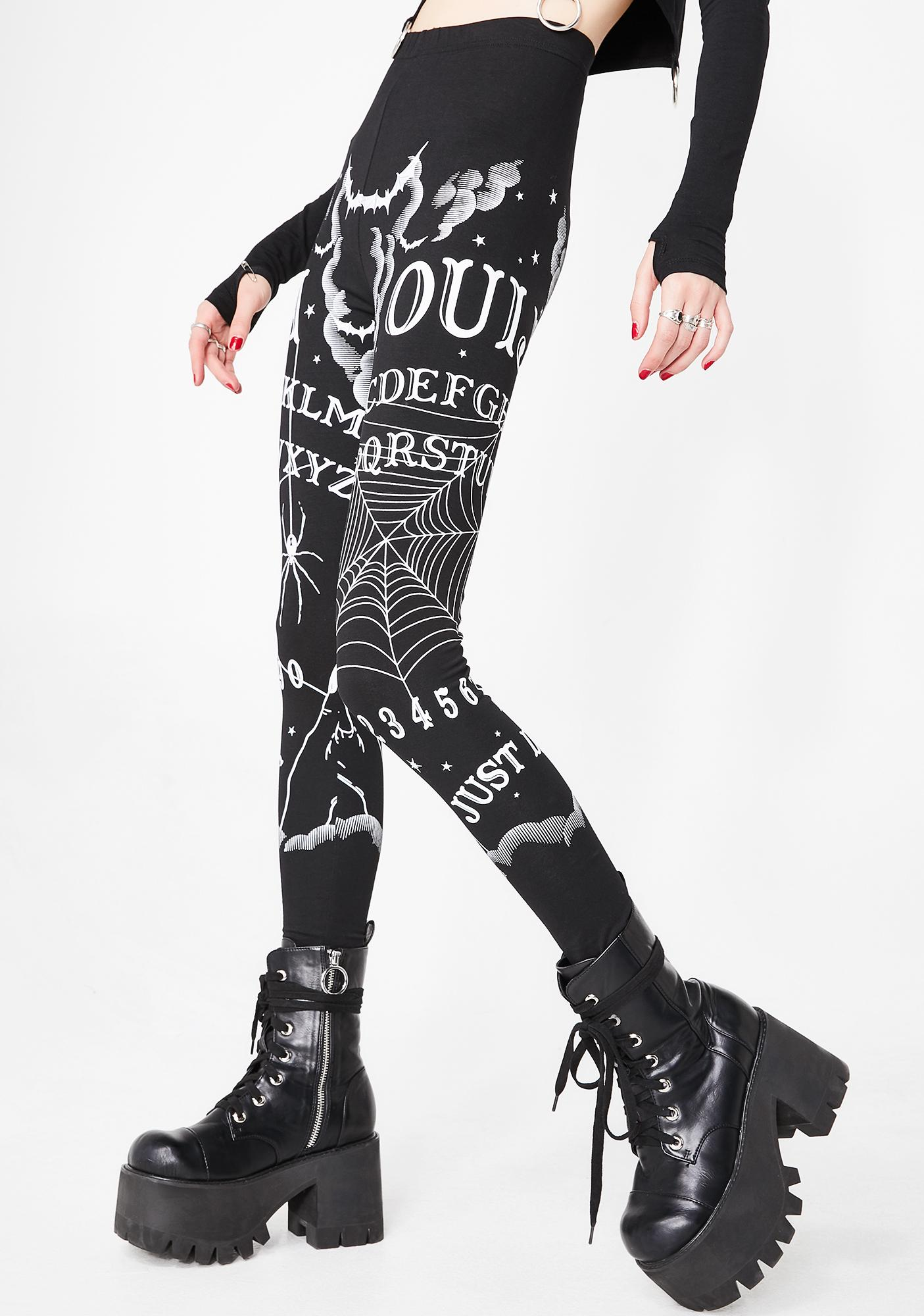 Dolls Kill Calling All Spirits Ouija Leggings