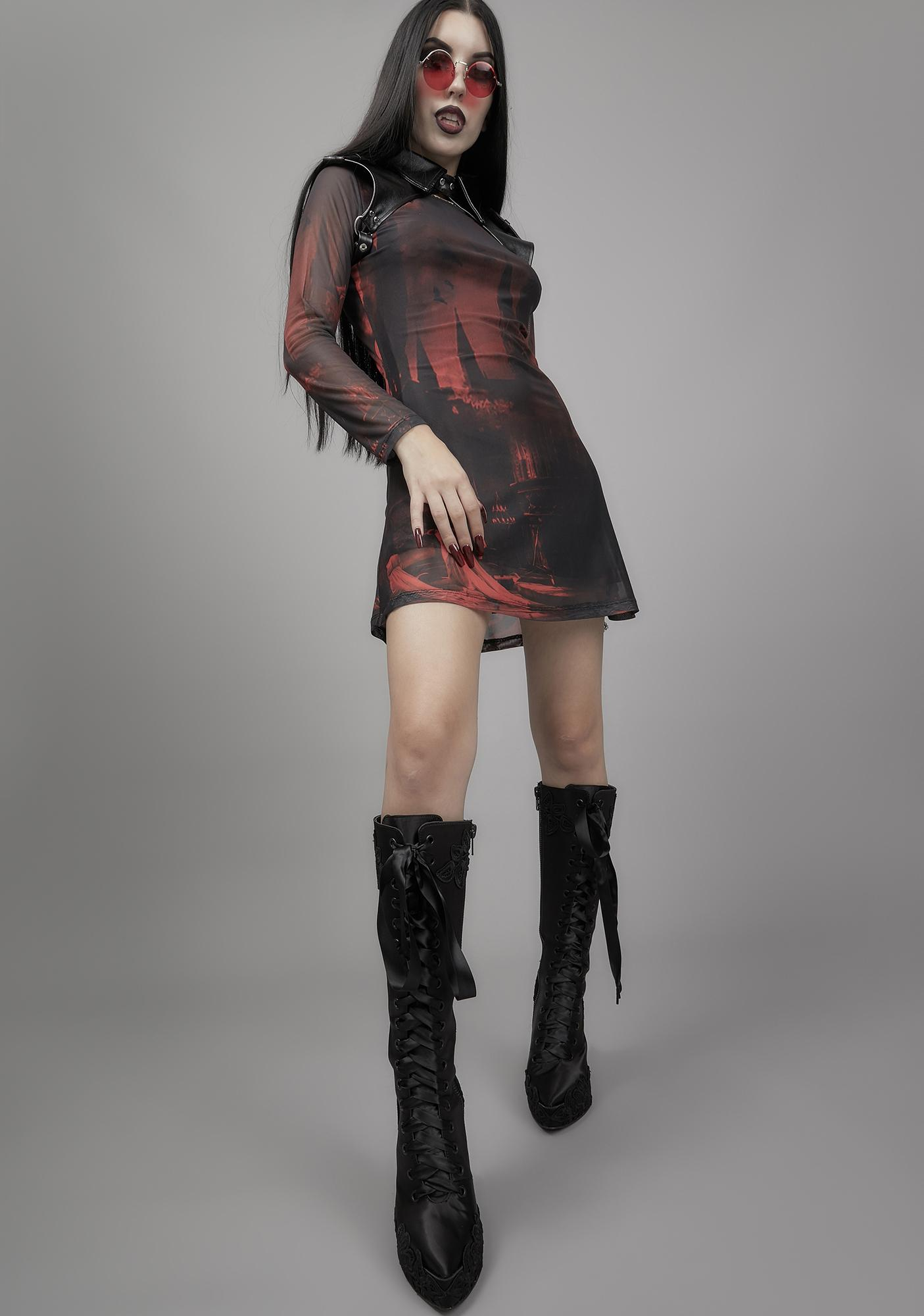Widow House Of Horrors Mesh Dress