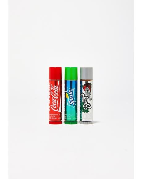 Coca Cola Lip Balm Trio