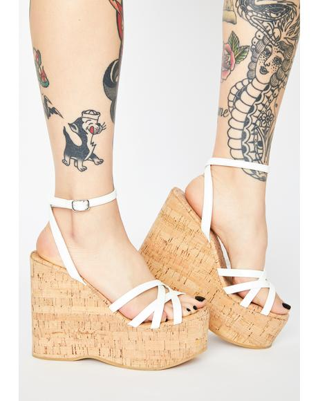 White Patent Cupid Wedge Heels