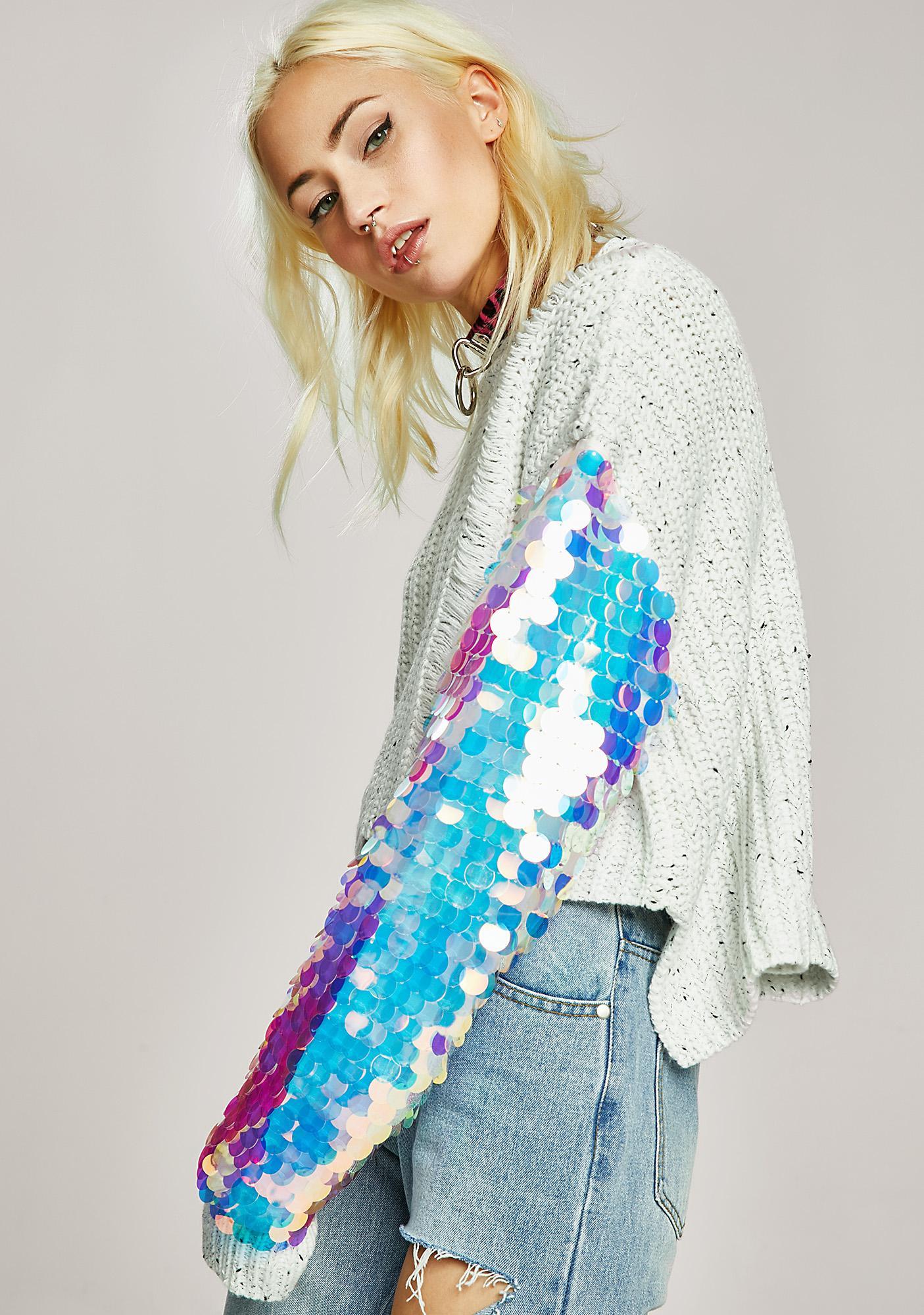 Sequin Distressed Knit Dweater | Dolls Kill