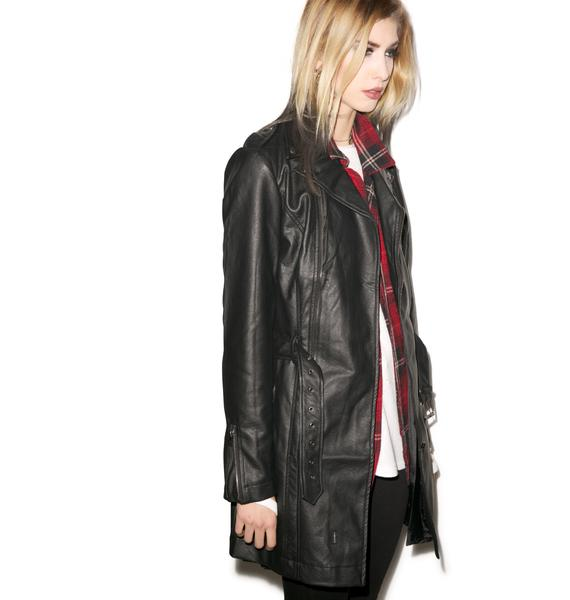 Tripp NYC Much Moto Trench Coat