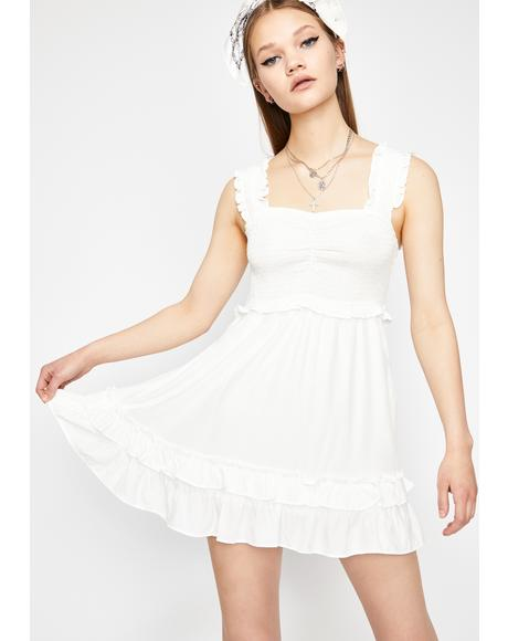 Boo Tell Me More Babydoll Dress