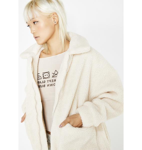 I AM GIA Cream Pixie Coat