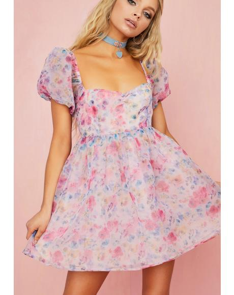Fun Filled Fantasy Floral Dress