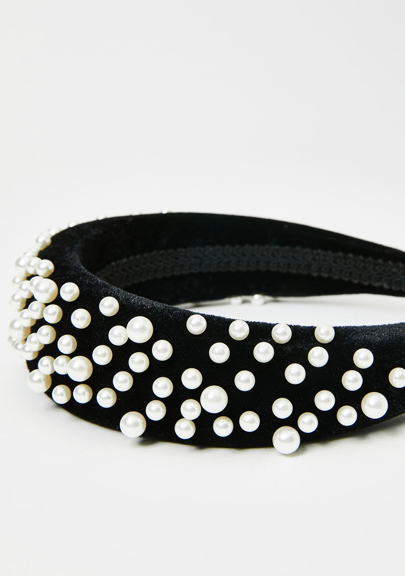 Dark Chaotic Cotillion Pearl Headband