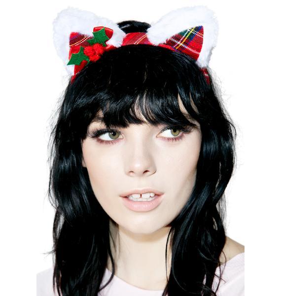 Tis The Season Kitty Headband