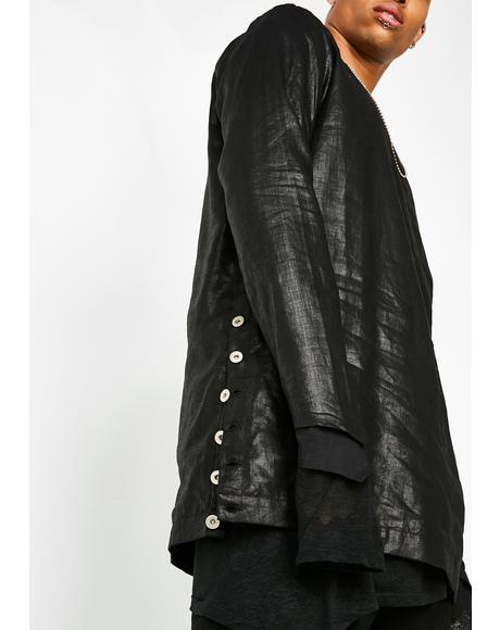 Crinkled Linen Pullover