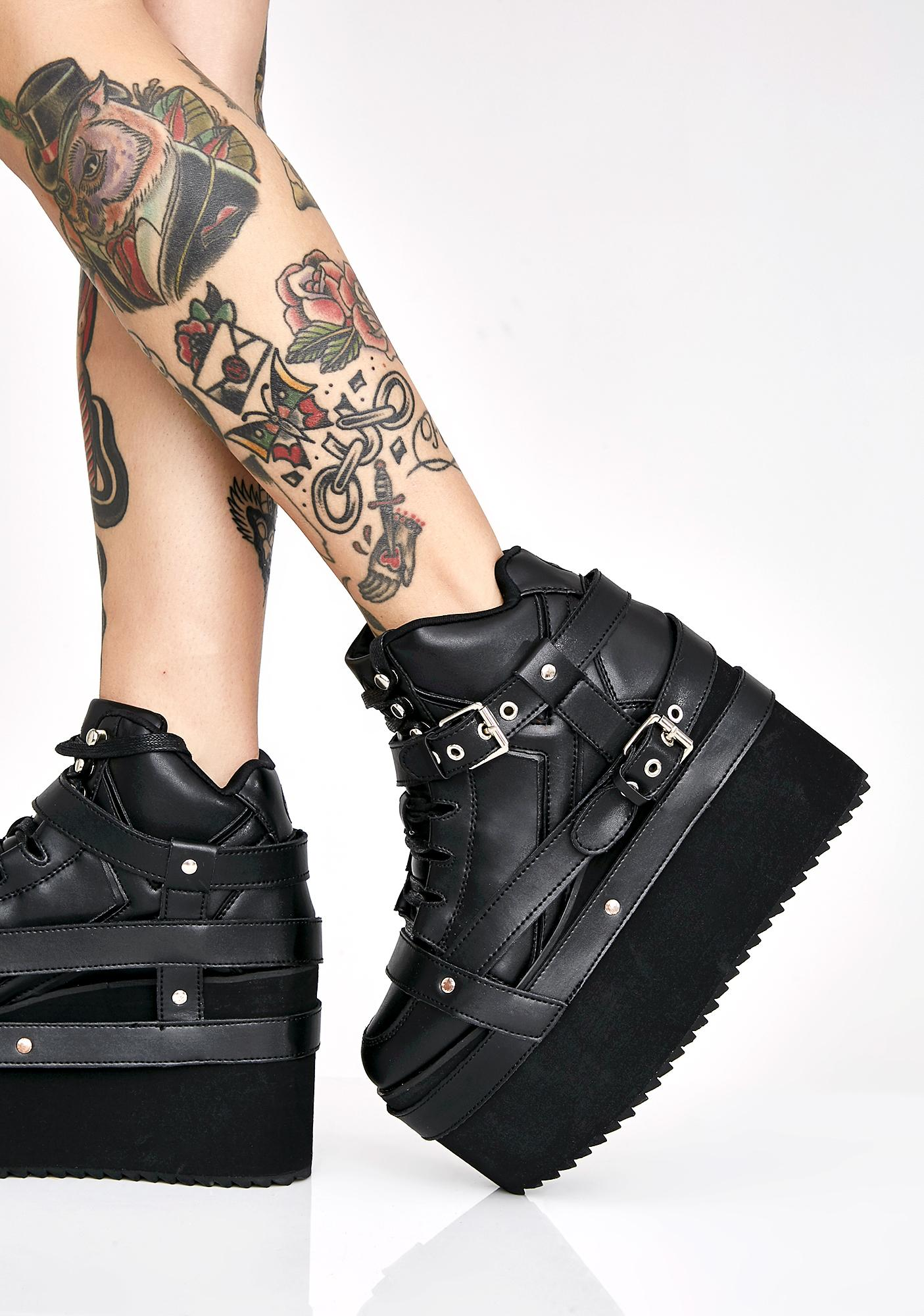 1859a0bffb2 Y.R.U. Qozmo Bondage Platform Sneakers