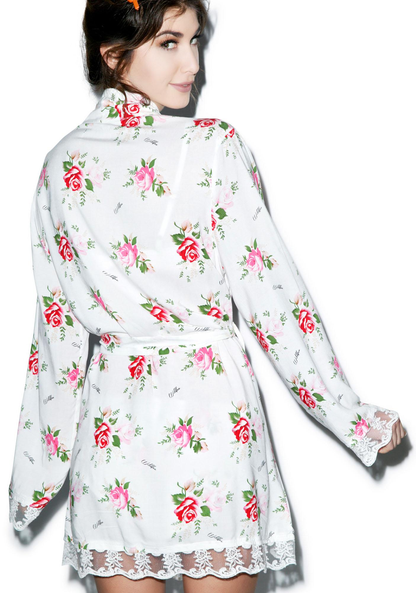 Wildfox Couture Lover's Bouquet Drawstring Robe