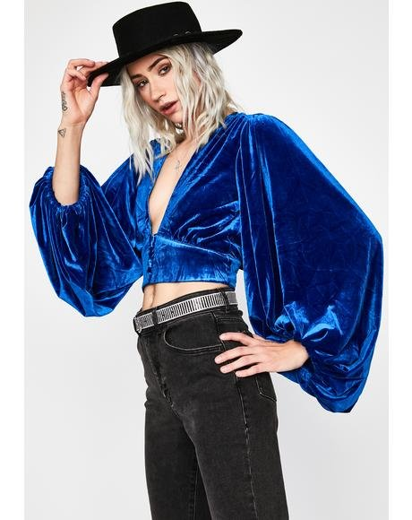 Berry Nighttime Nonsense Velvet Top
