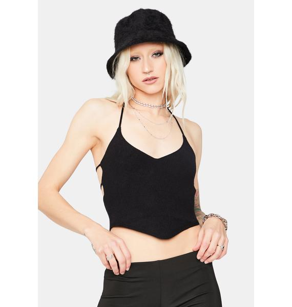 Take You Down Back Tie Crop Top