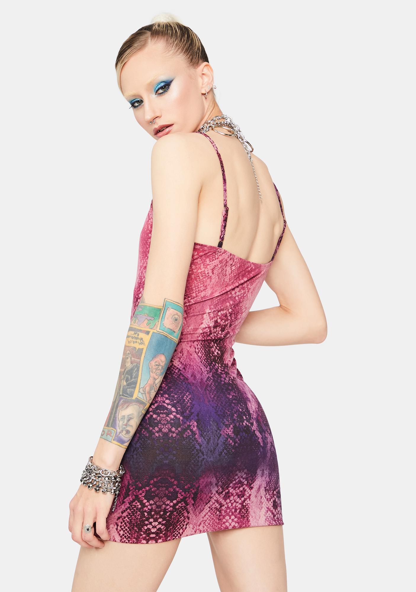 Bite Back Snake Bodycon Dress