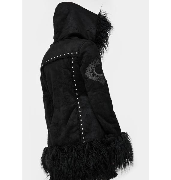 Killstar Salem City Shearling Coat
