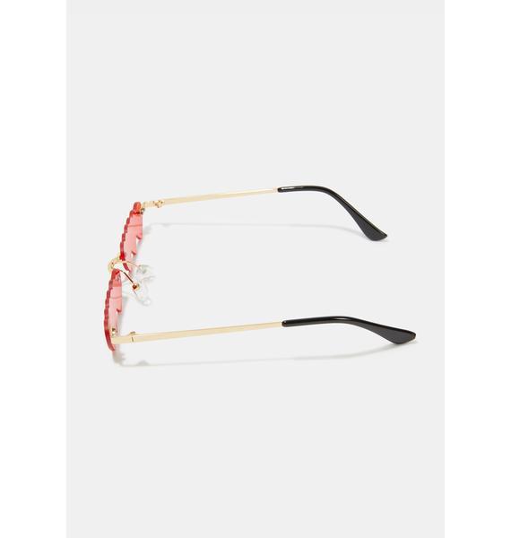 Fire Triple Threatz Heart Sunglasses