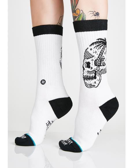 Skull Palm Crew Socks