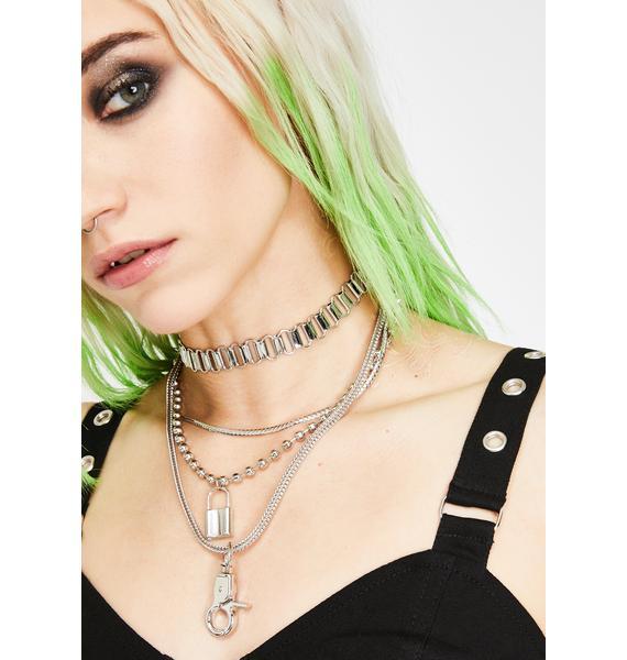 Keepin' On Layered Chain Choker