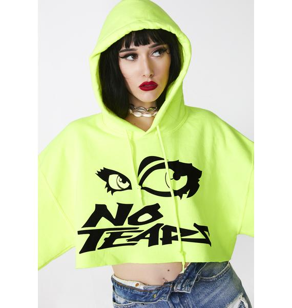 Petals and Peacocks No Tears Cropped Hoodie